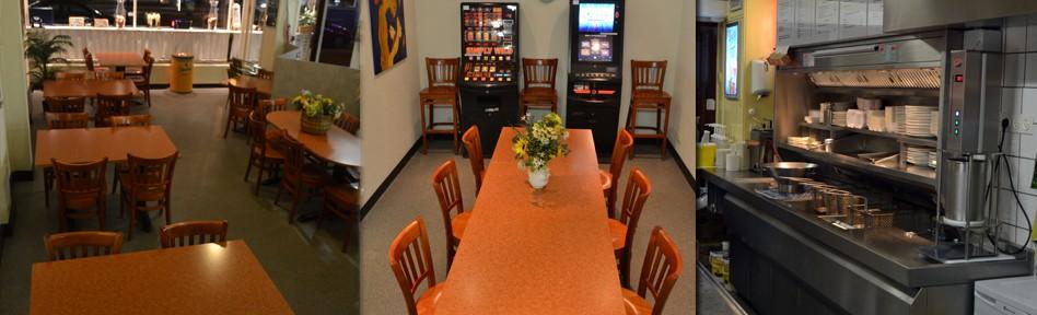 Cafetaria Doornbos bezit ook over veel zitplaatsen