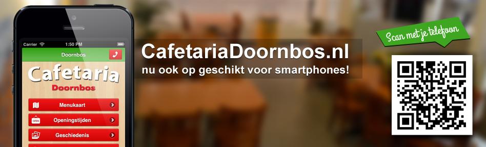 CafetariaDoornbos.nl nu ook beschikbaar voor smartphones! scan de qr code